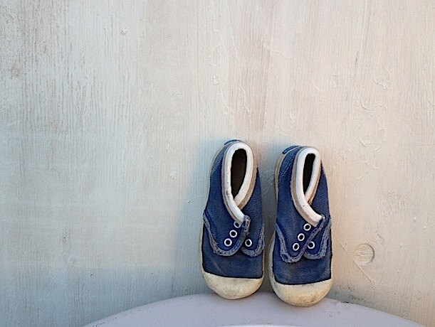 shabby take a step baby blue indigo faded keds sneakers vintage decor nursery chic rustic prairie natural mary jane autumn winter shoes - kateblossom