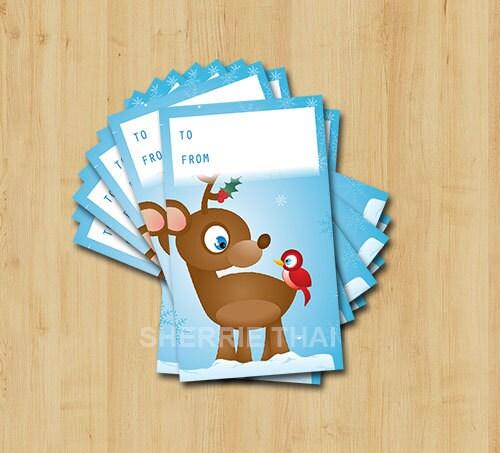 Handmade Christmas Reindeer Gift Tags