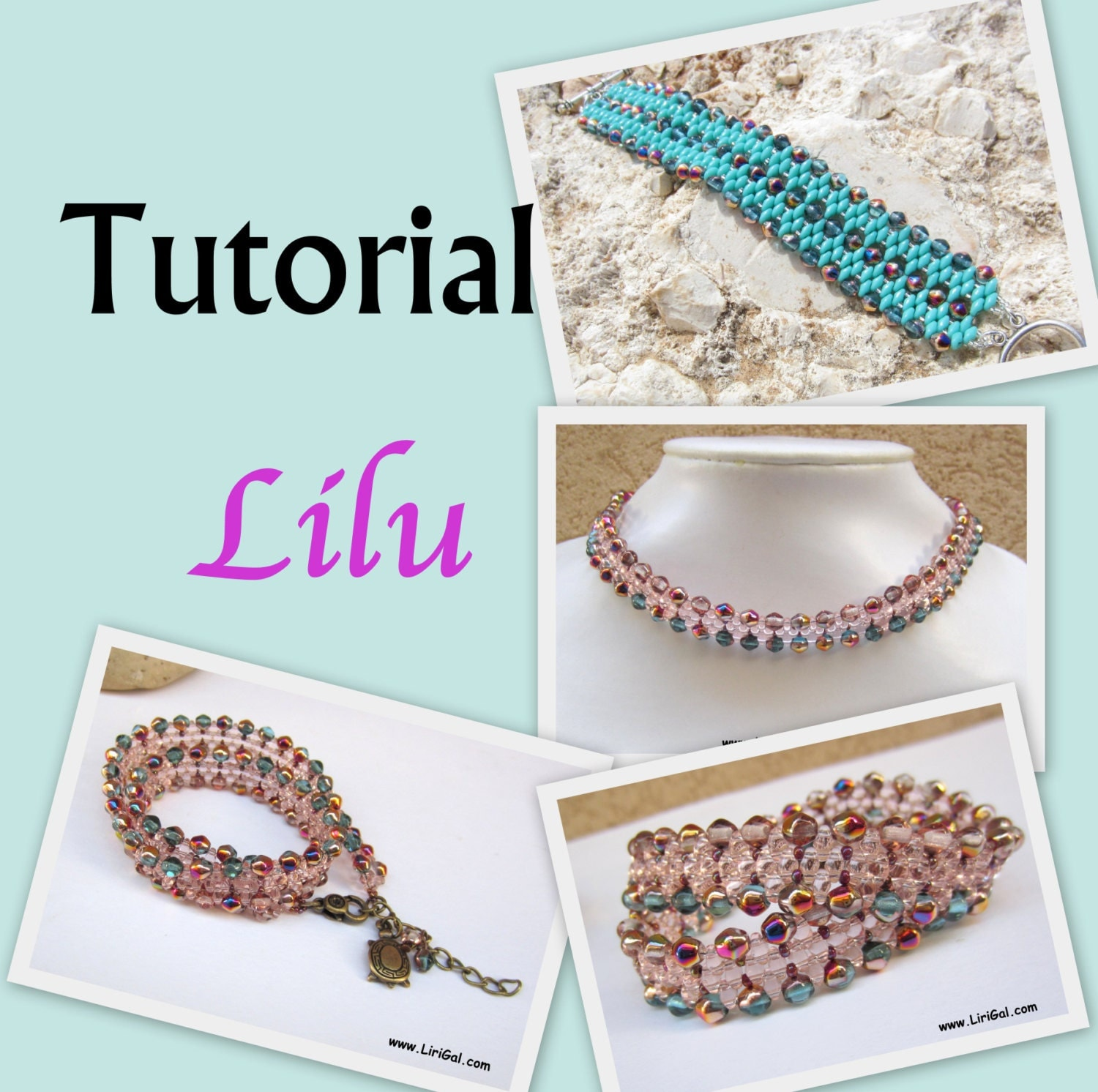 Lilu Superduo Beadwork Bracelet-Collar-Necklace PDF Tutorial