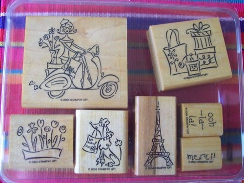 Stampin Up Paris in the spring stamp set