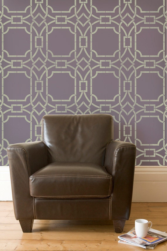 wallpaper that looks like stencils - photo #16
