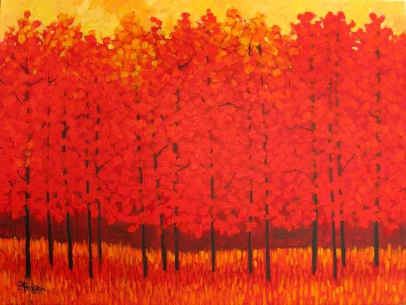 Red Trees   FREE SHIPPING