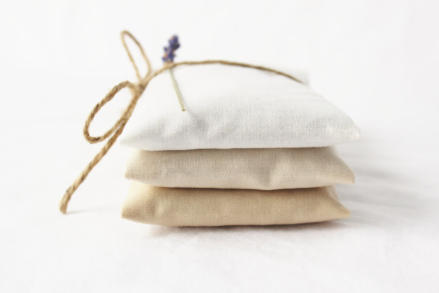 Neutral Ombre Lavender Sachets White Ivory Beige Modern Home Decor