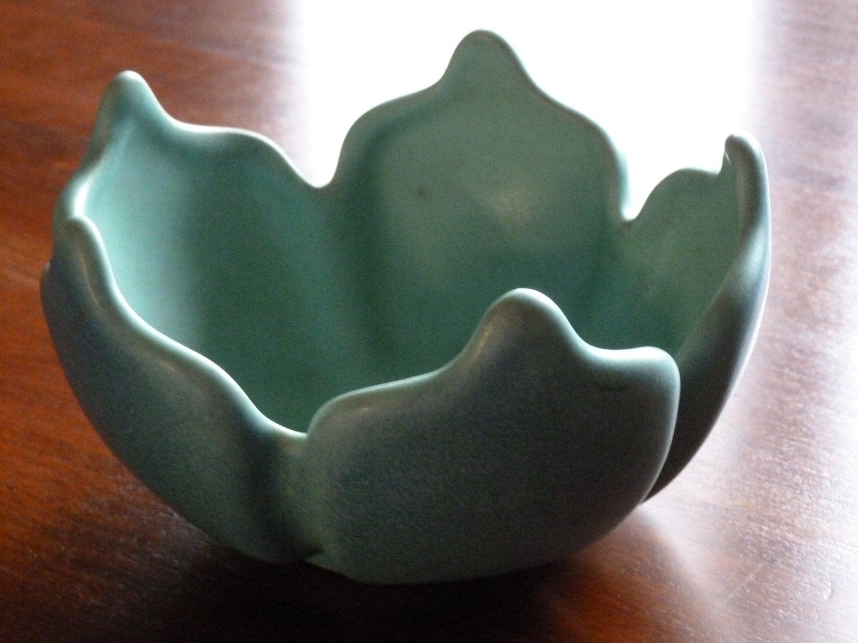 BLACK FRIDAY ETSY - Vintage Van Briggle Bowl, Turquoise - ooak - MercysVintageHome