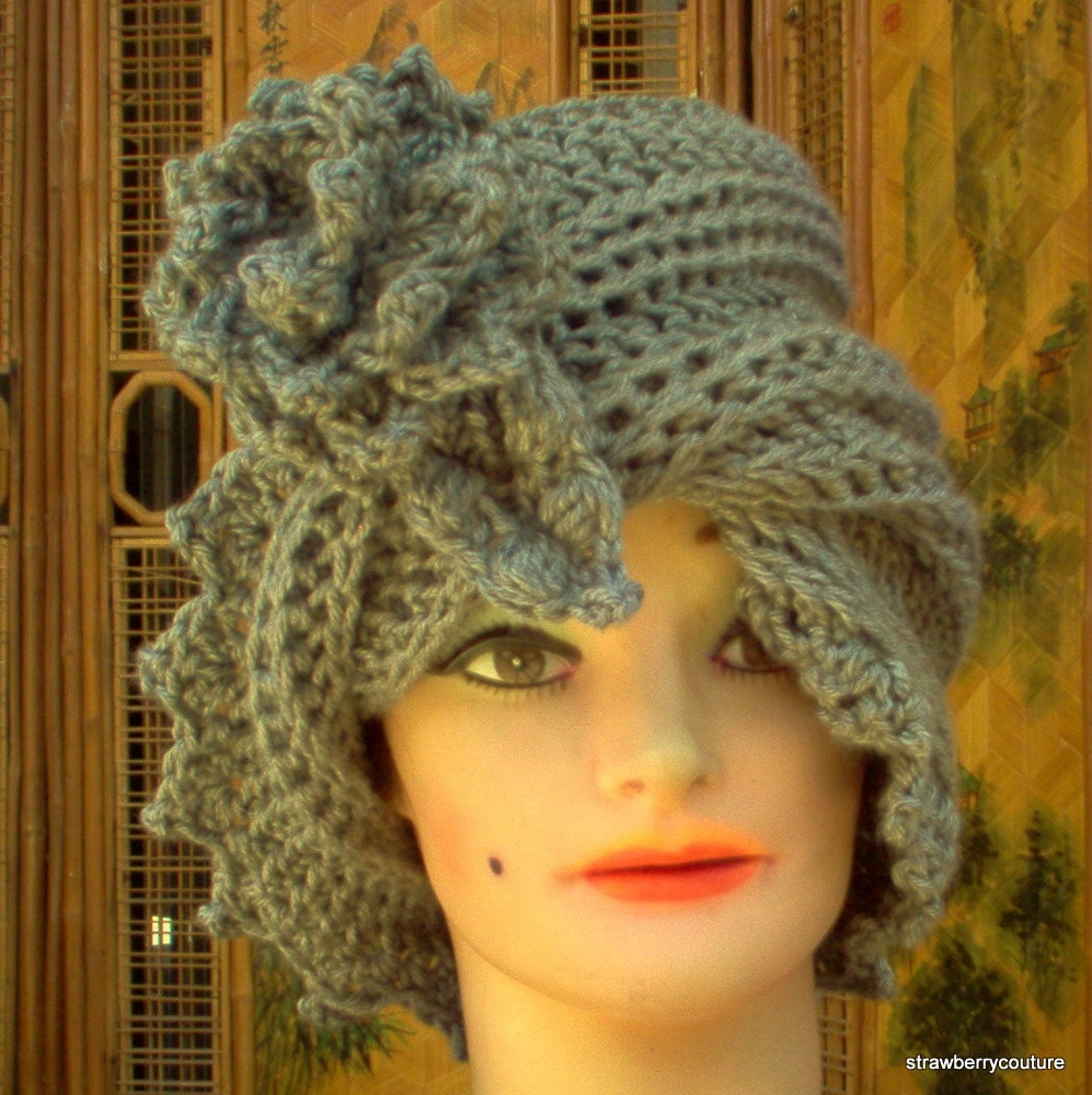 Womens Crochet Hat Pattern  PDF Pattern  by strawberrycouture