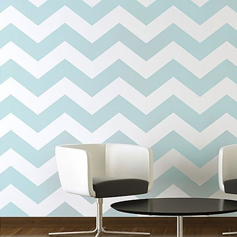 Stencils suitable for an allover wallpaper effect pattern.