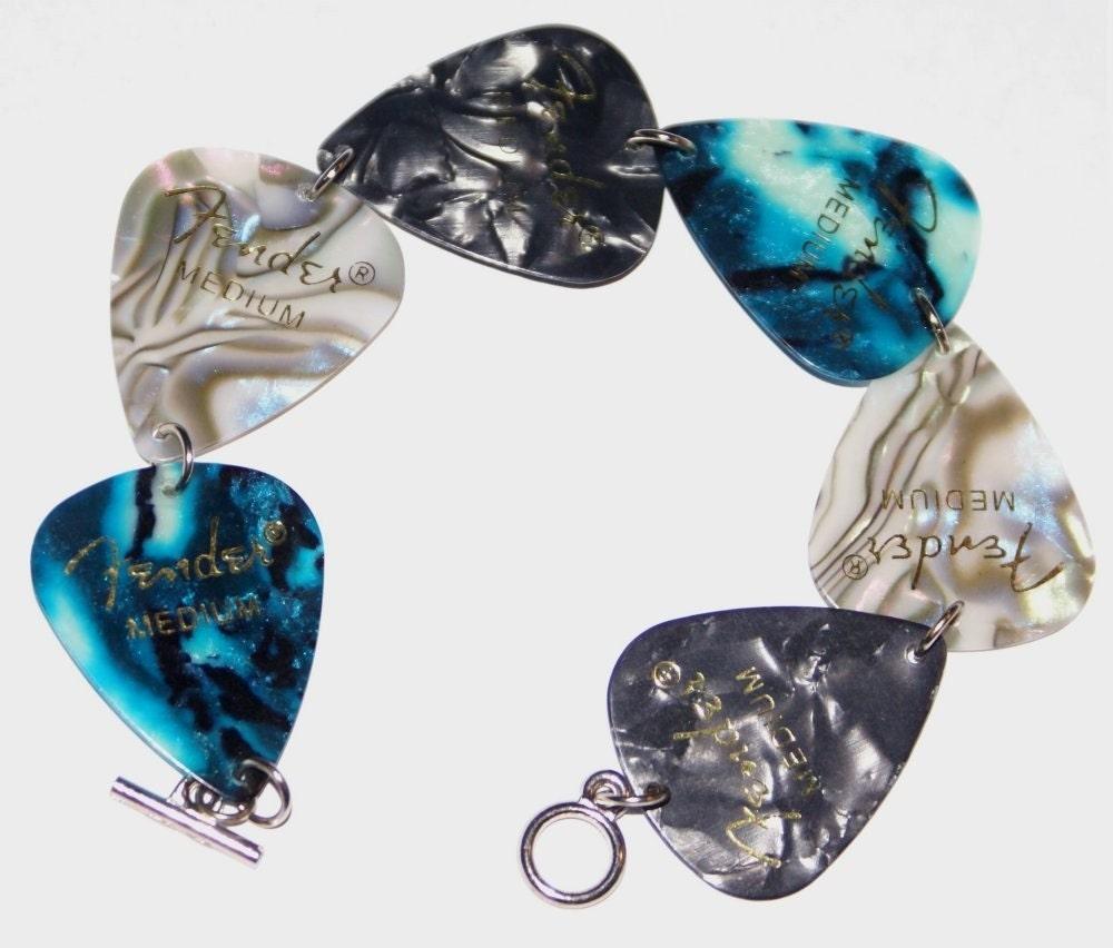 Ocean at Night guitar pick bracelet