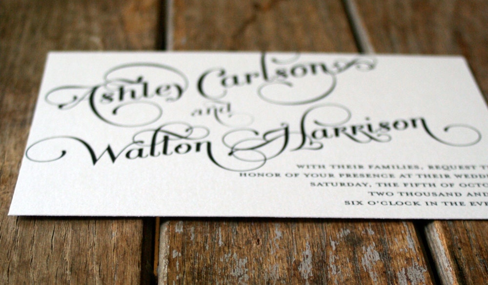 Vintage Wedding Invitation Elegant And Modern Calligraphy