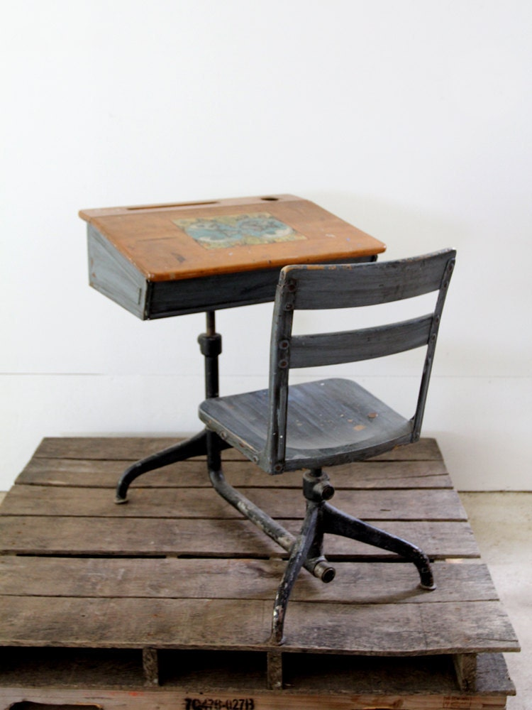 Vintage School Desk // Children's Desk - 86home