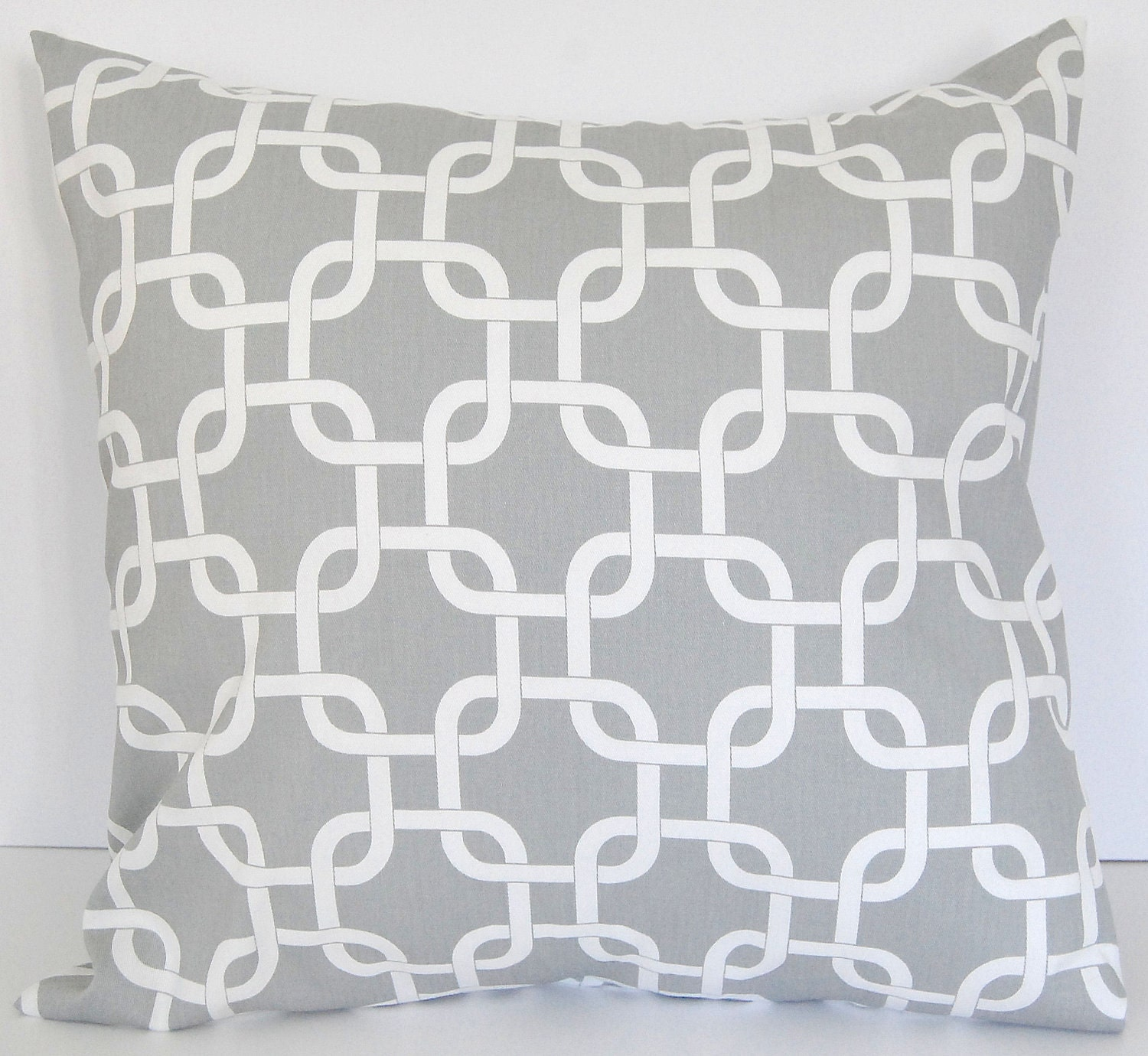 Decorative pillow covers pair of two 20 x 20 storm gray Gotcha - ThePillowPeople