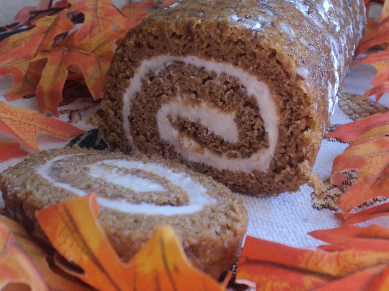 DESSERT CAKE - Pecan Crusted Pumpkin Spice Cream Cheese Swirl Cake ...