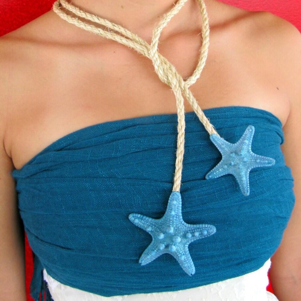 Реальная Ожерелье Морская звезда, пояс, браслет, ножной браслет или больше на тканые природных аккорд