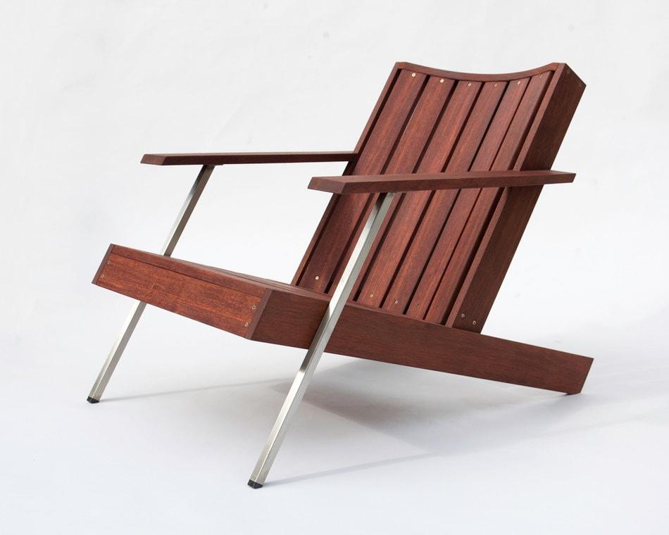 Modern Adirondack Chair in Rosewood - 'Deckster' - StudioLiscious