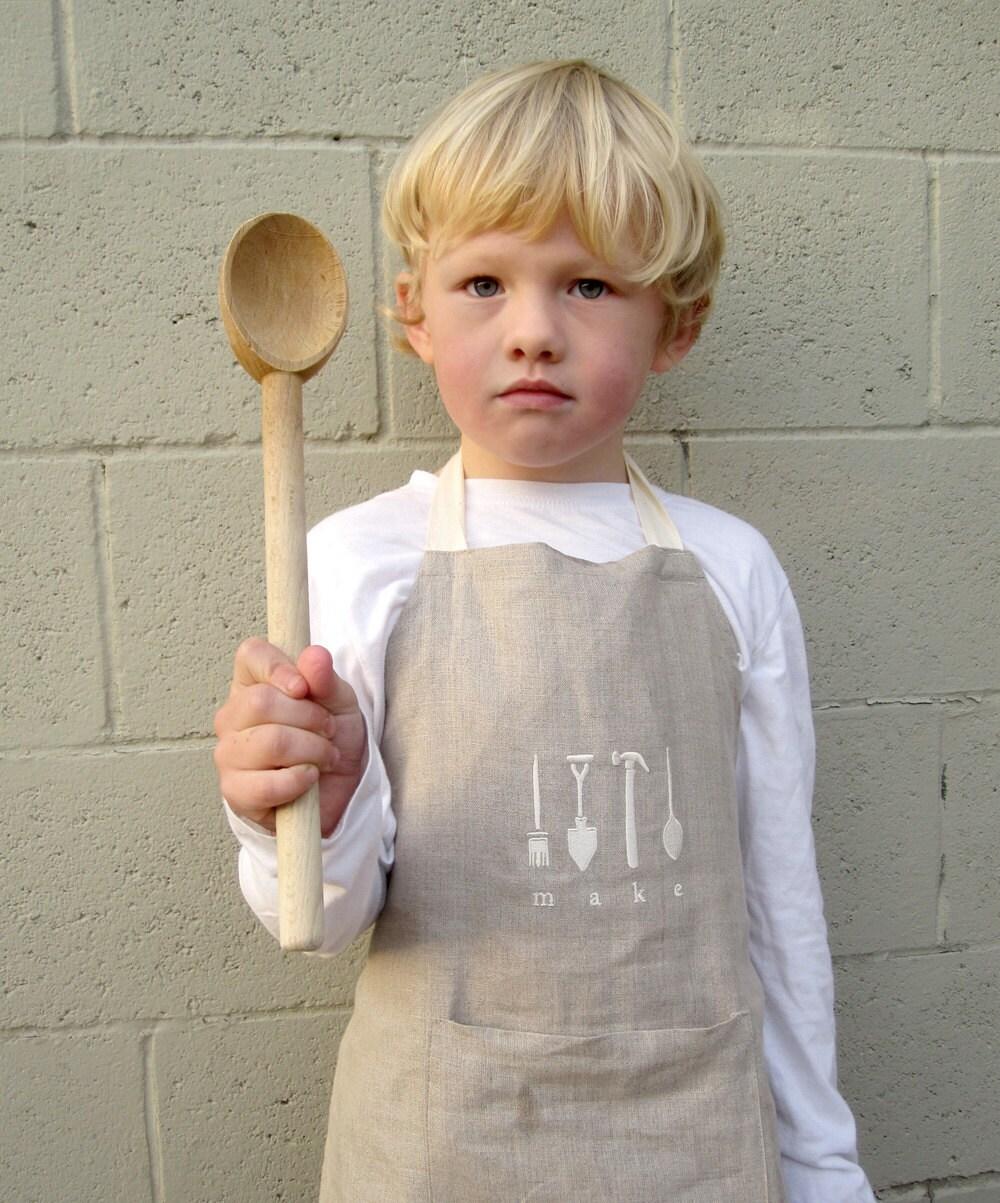 kids linen apron