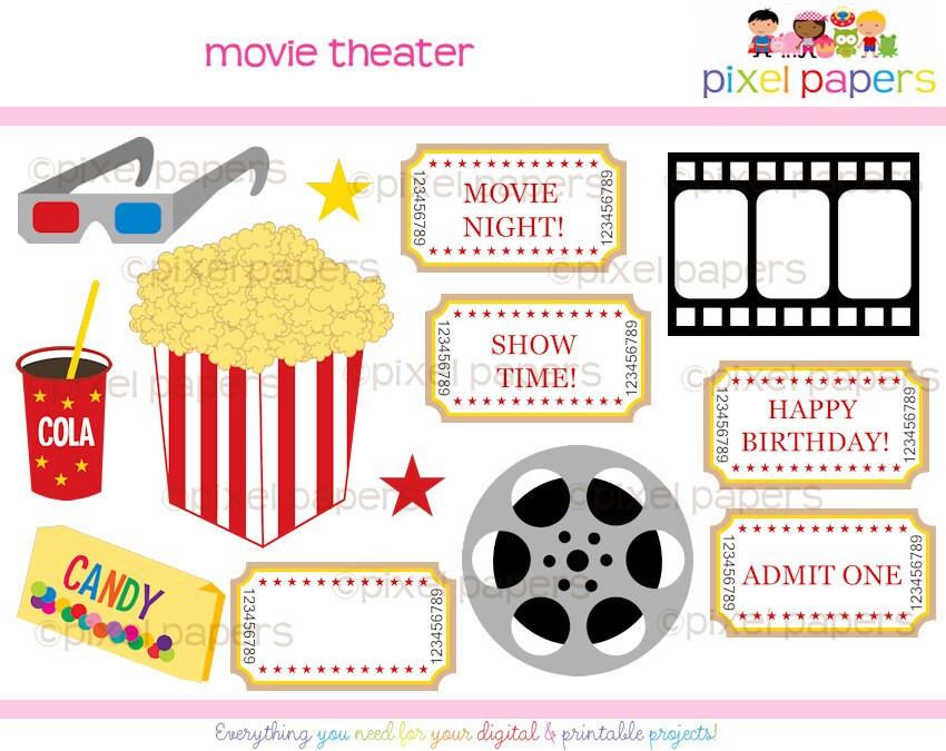 Buy 2 Get 2 FREE - Movie Theater Digital CLIP ART