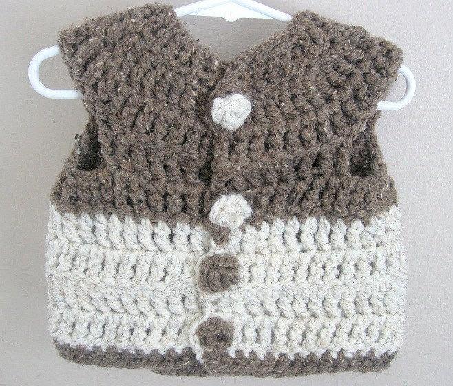 Crochet Baby Waistcoat Pattern : BABY CROCHET PATTERN VEST Crochet Patterns