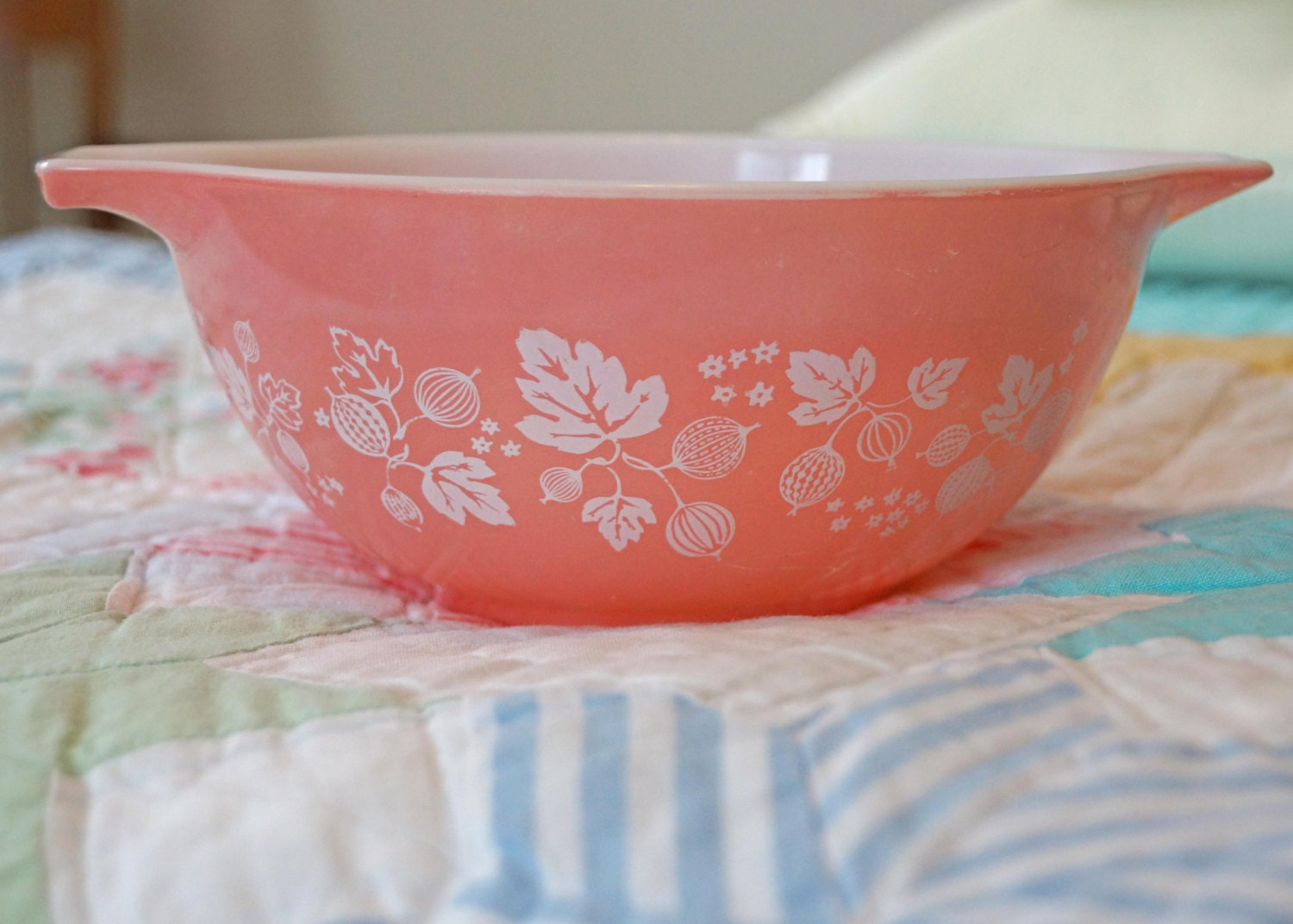 Pretty In Pink Pyrex Bowl