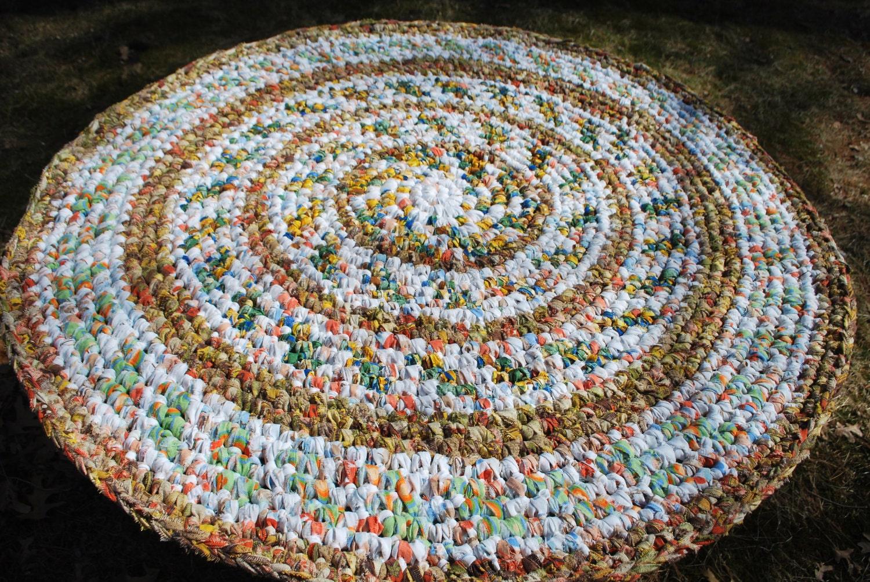 handmade circle rug - irynabat25