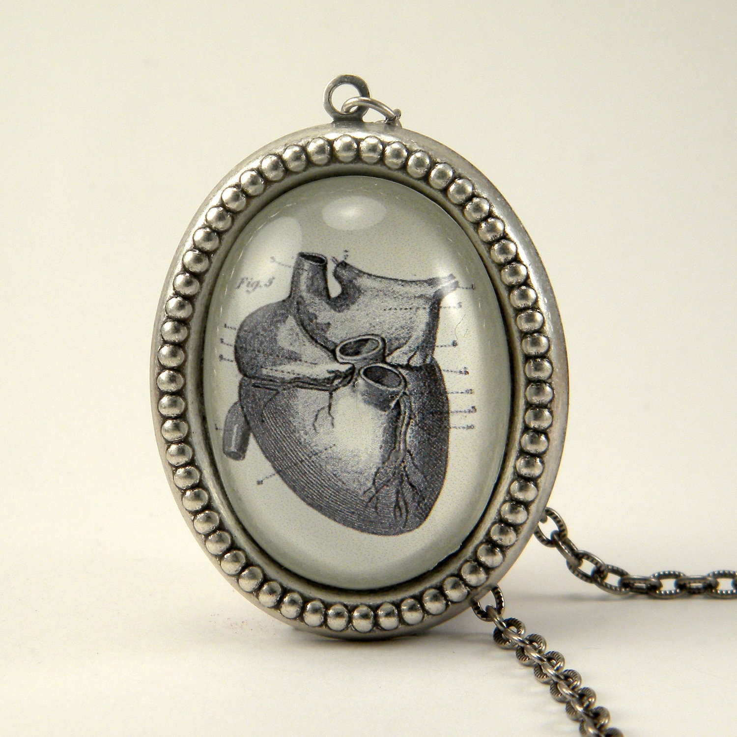rugalufx - anatomical heart necklace you here