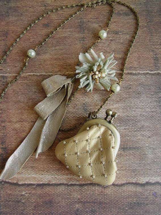 мини ожерелье кошелек - risshun - шампанское золото