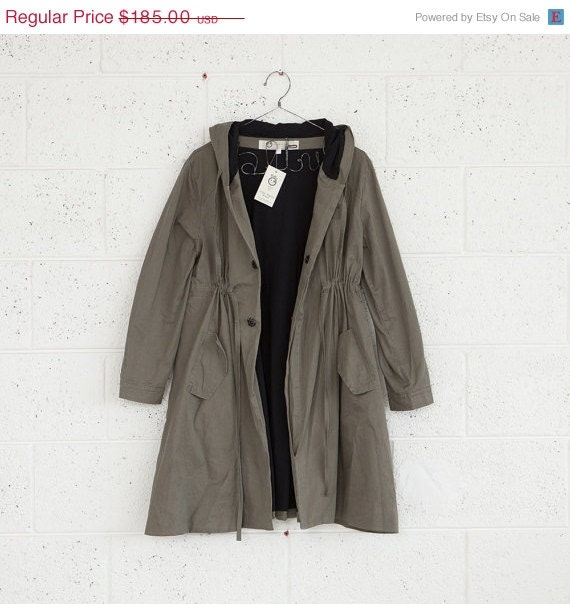 Valentines special SALE Winter fashion,Olive green coat,Hooded jacket,Army jacket - naftul