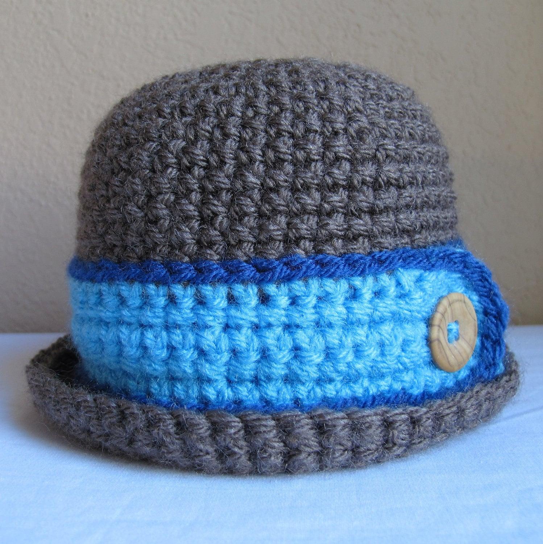 Crochet Newborn Bucket Hat Pattern : Boys Bucket Hat Crochet Pattern