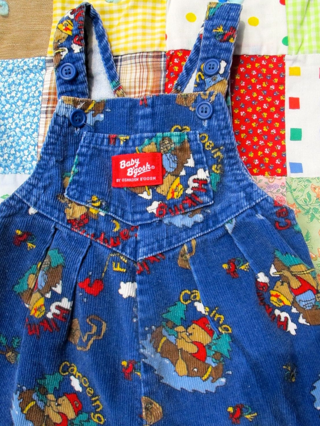 Corduroy Camping Overalls 9-12 Months - lishyloo