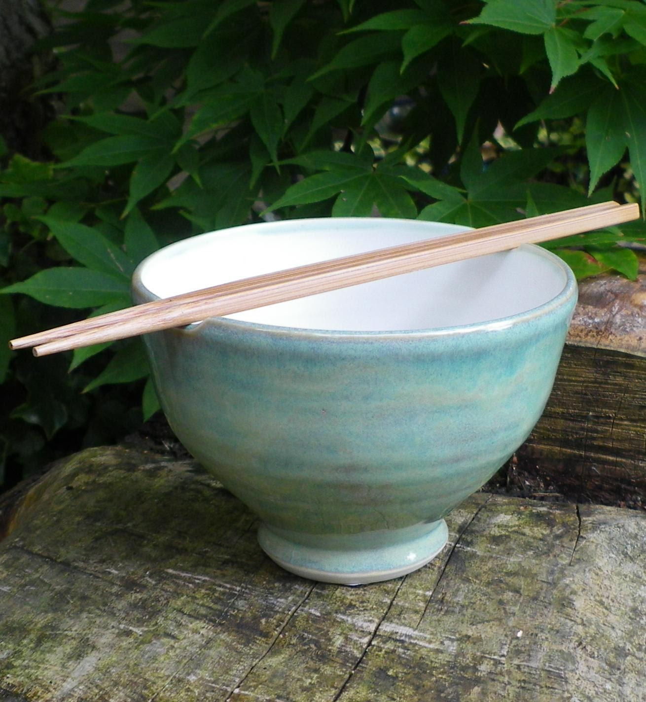 Rice bowl handthrown in porcelain.