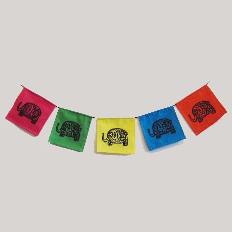 Karmabee Elephant Prayer Flag - karmabee