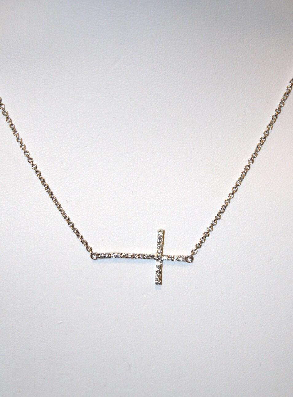 ripa sideways cross necklace sterling by