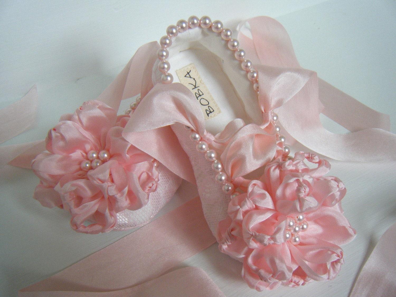 Балетные туфли малышей 'цвет' Pink Кружева Перл девушка