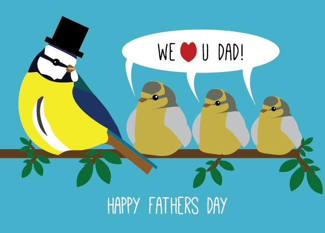 Father's Day Card three birds - munkydory