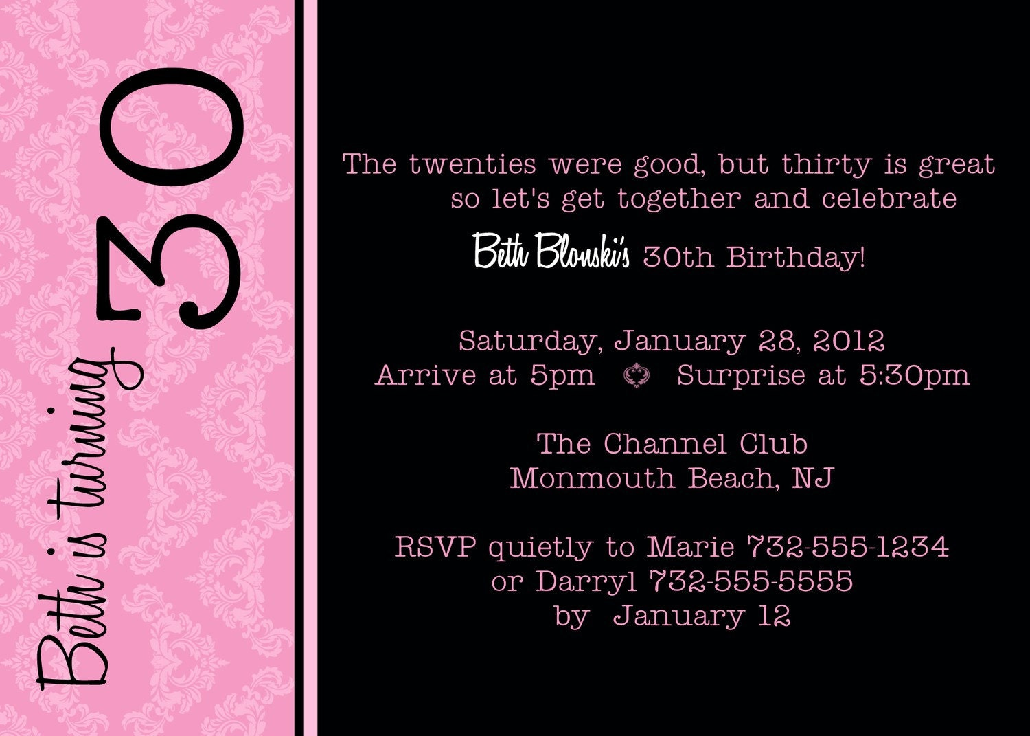30Th Birthday Invitation could be nice ideas for your invitation template