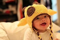 Giraffe hat with earflaps, crochet baby hat, crochet toddler hat, animal hat, photo prop hat