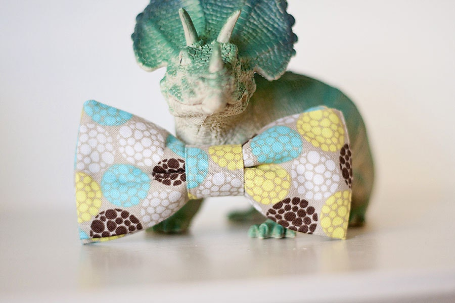 Multi-Colored Bow Tie for Boy or Baby Clip on