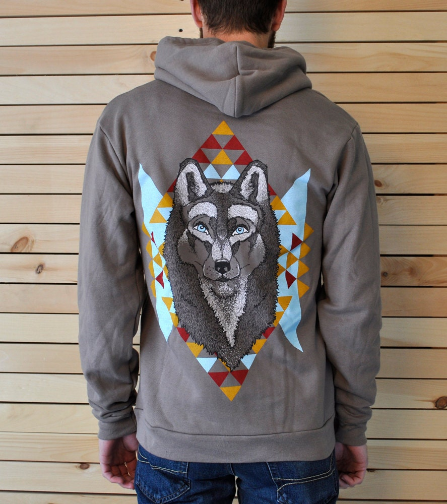 The Wolf Sweatshirt - Zip Hoodie