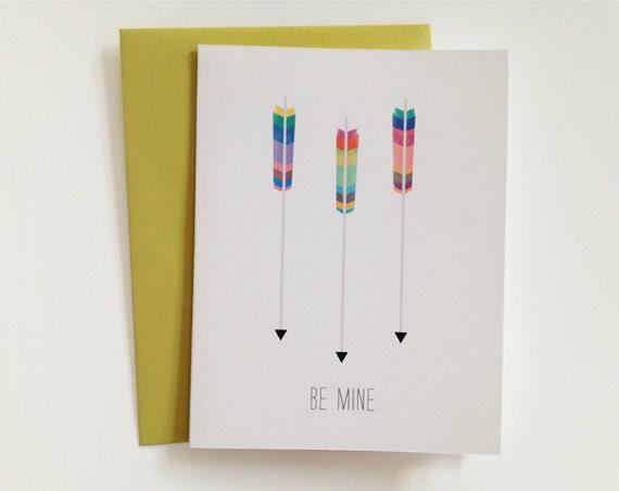 Valentine's day arrow card