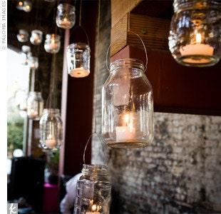Set of 12 Wedding Jars Antique Clear Ball Brand Mason Jars Quart