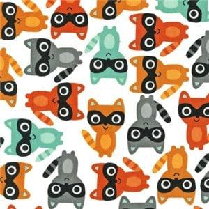 Woodland Pals by Ann Kelle for Robert Kaufman Fabrics- Raccoons Nature (AAK-13767-237 BERMUDA) - CottonBlossomFarm