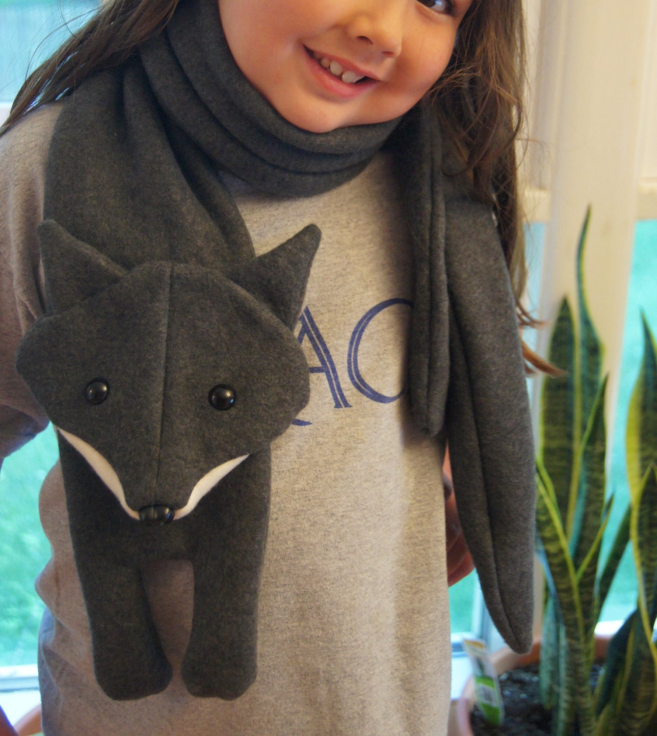 PATTERN: Fleece fox scarf...perfect for that foxy person in your life