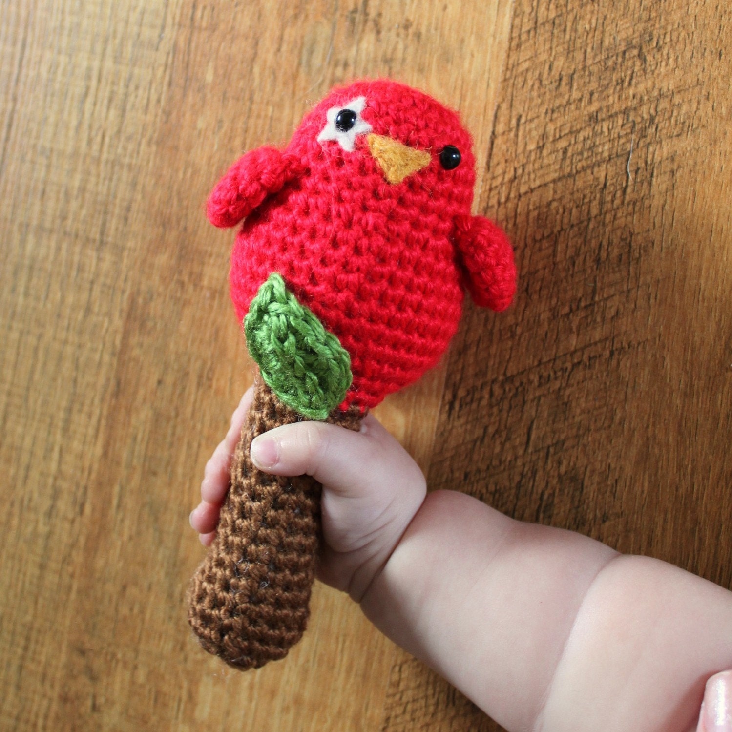 Crochet Pattern - Birdy Rattle Toy
