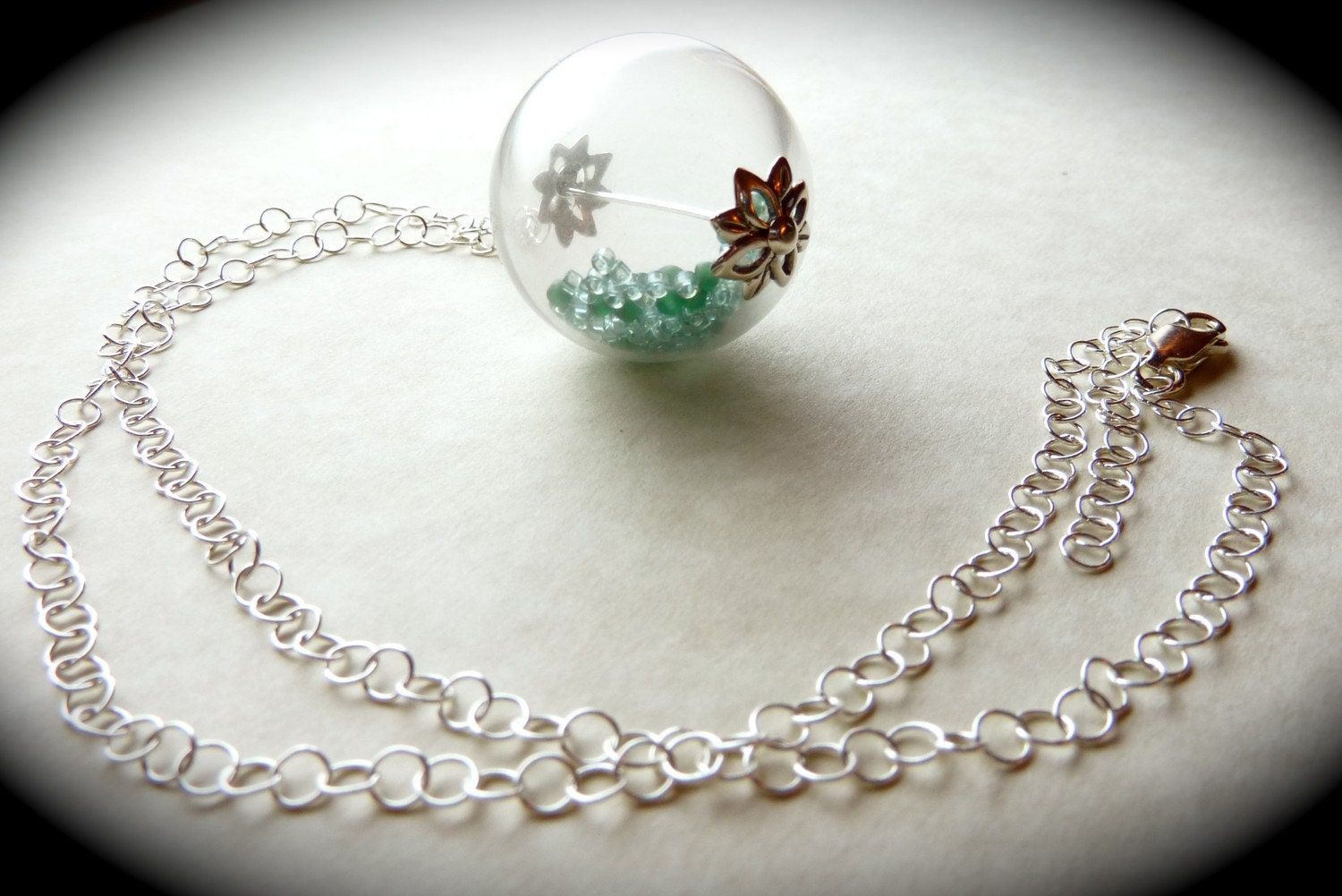 Blown Glass Globe Necklace - CorkyWhites