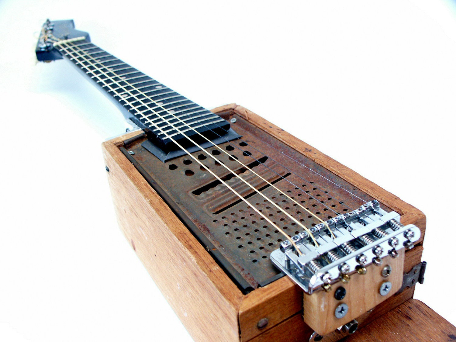 The Shredder Electric Acoustic Travel Size Guitar, Handmade - RainyDayInstruments