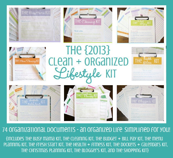 INSTANT DOWNLOAD The 2013 Clean and Organized Lifestyle Kit - 74 documents