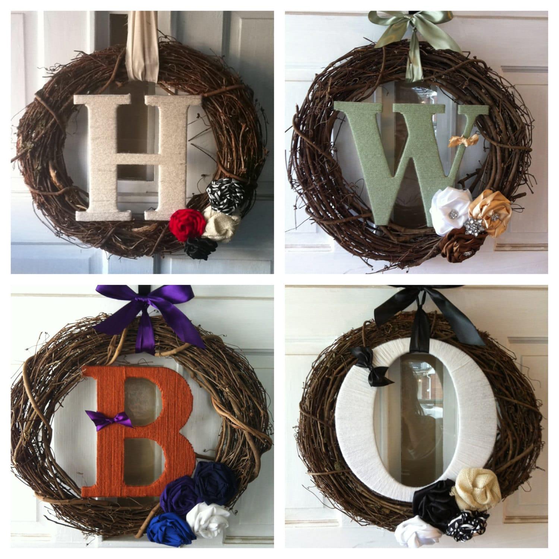 Custom Monogram Wreath