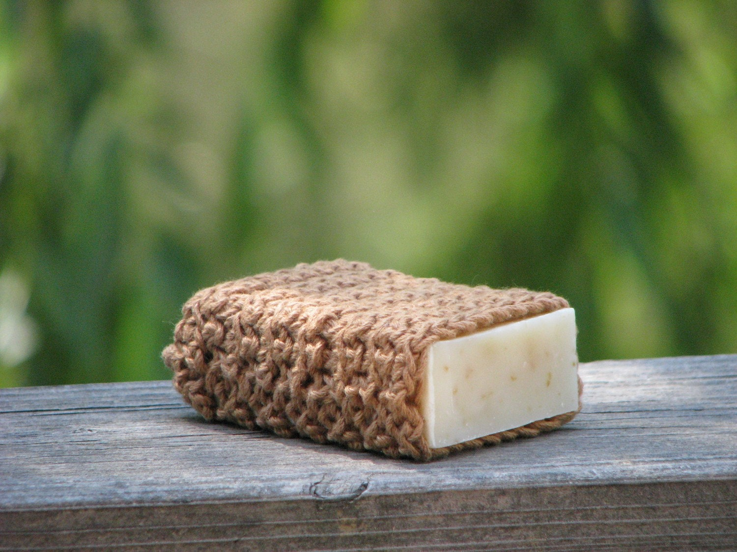 Eco Friendly Soap Pouch Organic Color Grown Cotton - Buffalo - mountaingirlsoap