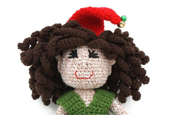 Girl Christmas Elf Doll Crochet Amigurumi