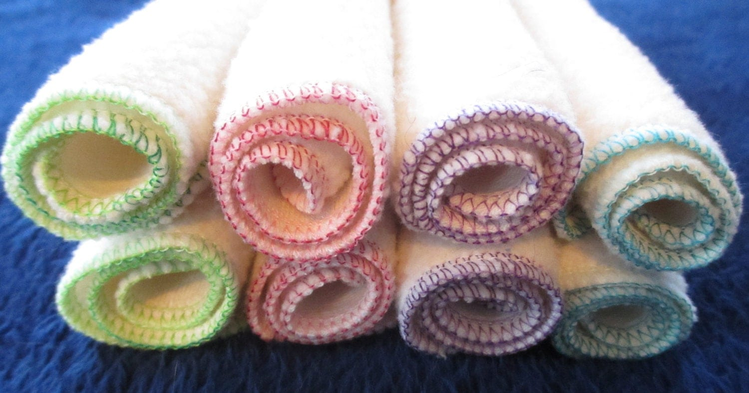 Cotton Sherpa Cloth Wipes/Washcloths - Set of 6