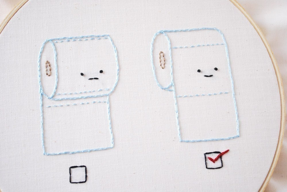 Vote - Toilet Paper Election Mini Embroidery Pattern