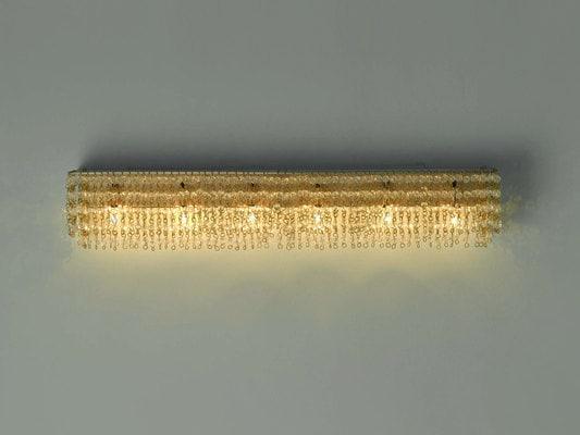 Beads chain wall lamp